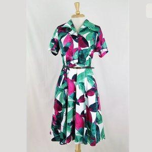Jones New York Floral Mod Midi Shirt Dress 10